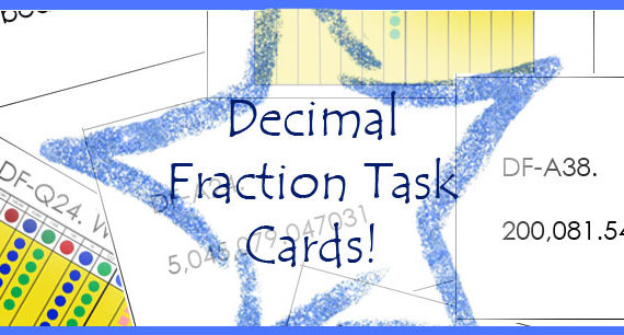 Printable: Decimal Fraction Task Cards