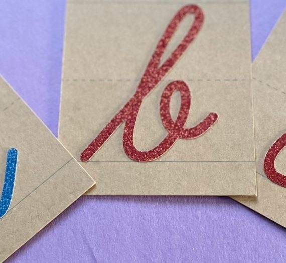 Make Your Own: Cricut Sandpaper Letters